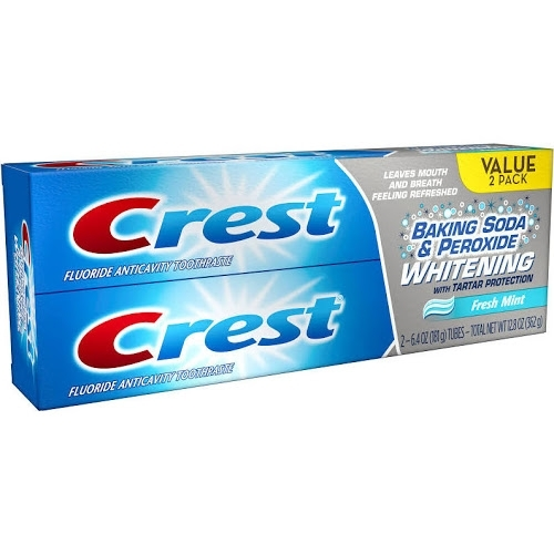 2x Crest Peroxide Whitening toothpaste 161g