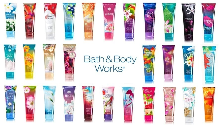 Bath and Body Works body creams and lotions from USA