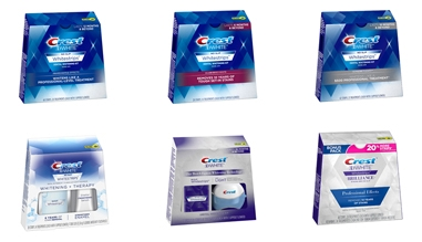 The widest range of Crest whitening strips
